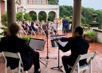 Villa Terrace Wedding Ceremony